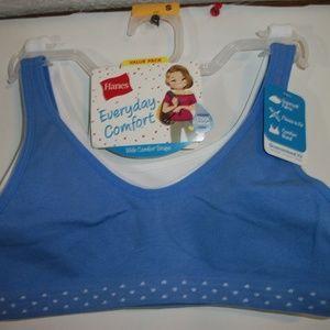 Hanes Girls Size Small Every Day Comfort Bra 2pk